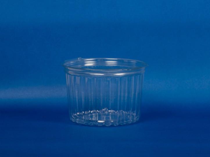 Pote Transparente Facetado 460 cc c/Tapa Plana (1x480u)