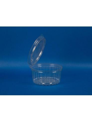 Pote Transparente Facetado 360 cc Tapa Plana (1x570u)