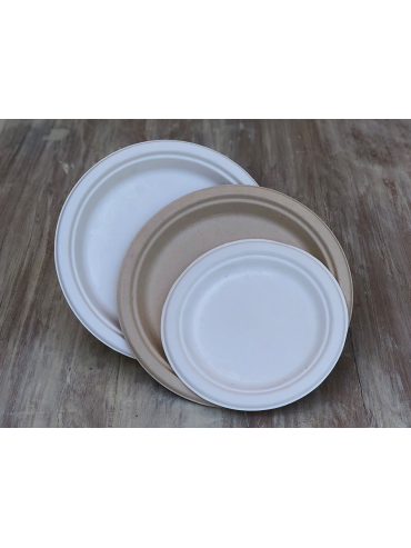 Plato Bio Compostable 22 cms (1x500u)