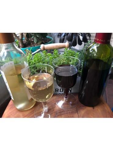 Copas impresas de vino