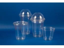 Tapa Vaso Trasparente 9, 12 y 20 oz c/perforacion (1x1000u)