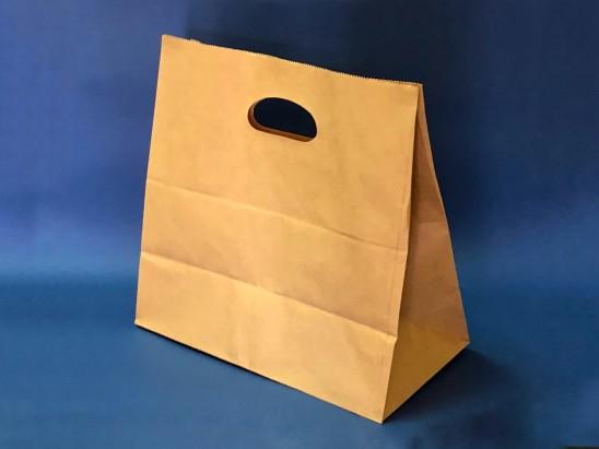 Bolsa Papel Kraft con mango troquelado (1x500u)