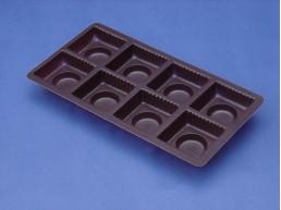 Bandeja Chocolate 8 cav. 146x75 mm.