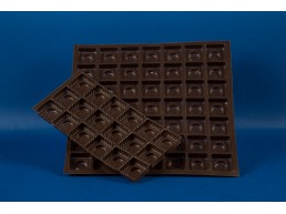 Bandeja Chocolate 18 cav. 205x103 mm.