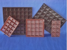 Bandeja Chocolate 25 cav. 186x186 mm.