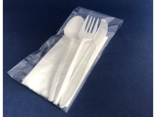 Set/pack de Cubierto Blanco 4 piezas