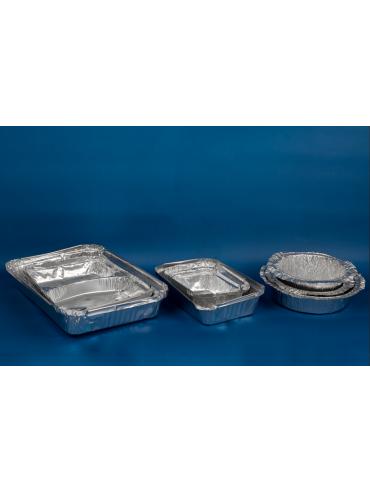 Bandeja Aluminio Rectangular C18 con Tapa (1x900)