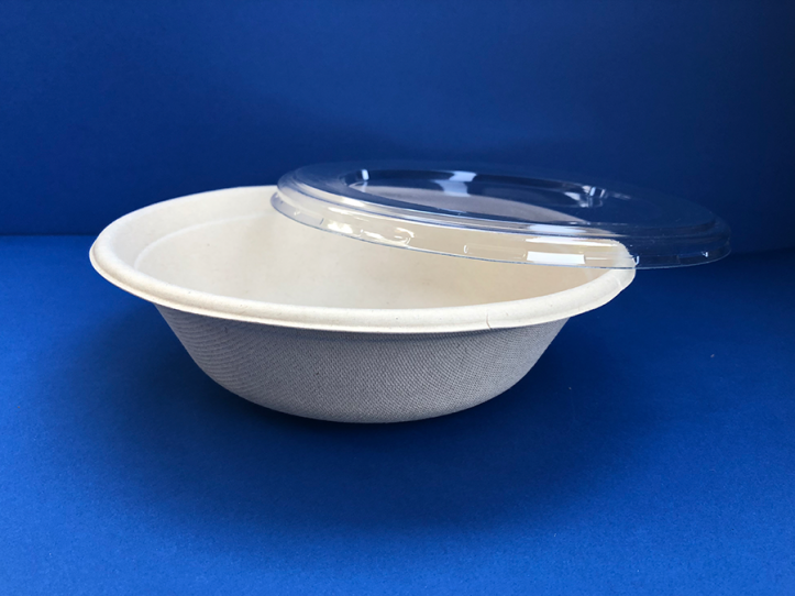 Salad Bowl Bio 32 oz c/tapa(1x500u)