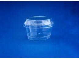 Vaso para Postre Bajo con Tapa 130 ml (1x500u)