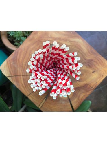 Bombilla Papel Roja con Blanco (1x1000u)