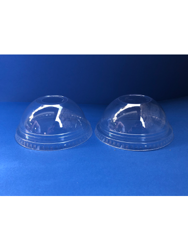 Tapa Domo Vaso Transparente 9, 12, 20oz c/perforacion (1x1000u)