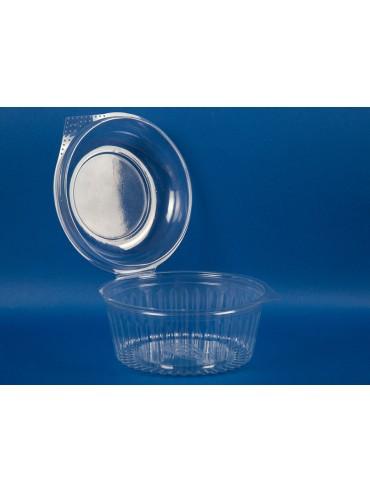 Bowl Multiuso Transparente 960 Tapa Bisagra (1x150u)