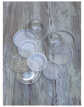 Tapas para vasos y potes